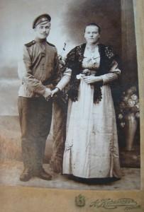 Забалуев Василий с женой Александрой Михайловной (в девичестве Суконкиной). Из семейного альбома Забалуевой Анны Васильевны