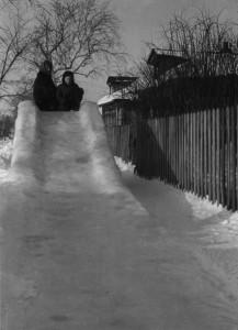 Очень памятная, дяди Жени Мохова ледяная горка.
