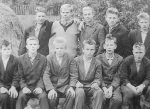 Ученики школы. Начало 60-х.