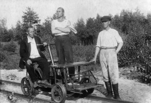июль 1934г. В пути, на участке.