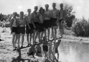 1955год. На речке (Андриянова яма).